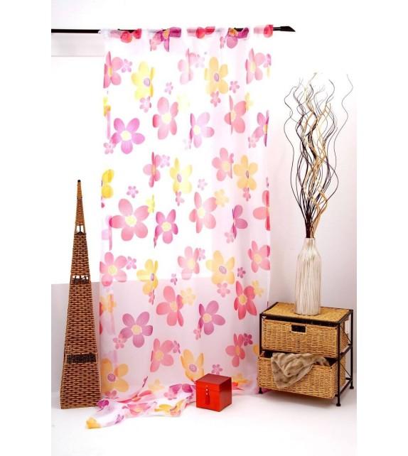 Perdea Silan Mendola Home Textiles, 140x245cm, cu rejansa, rosu