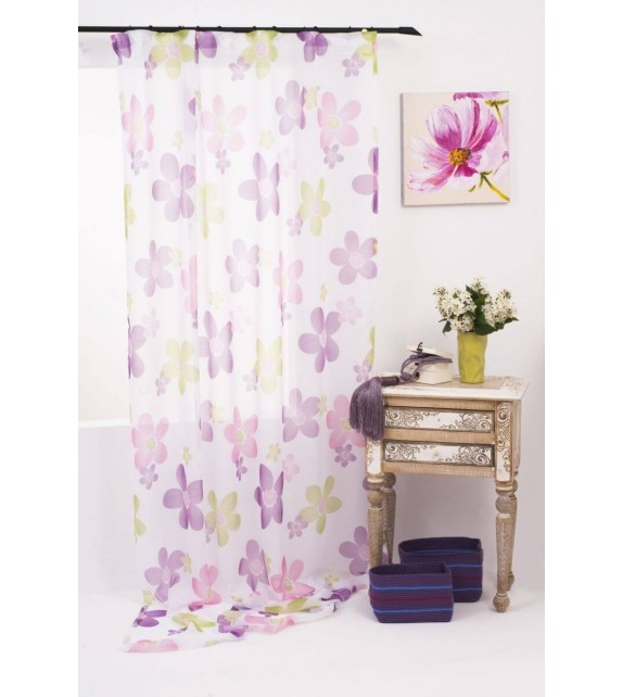 Perdea Silan Mendola Home Textiles, 140x245cm, cu rejansa, mov