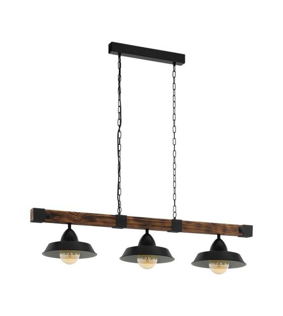 Lustra Oldbury - 49685 Eglo, 3xE27, stil scandinav, maro rustic-negru