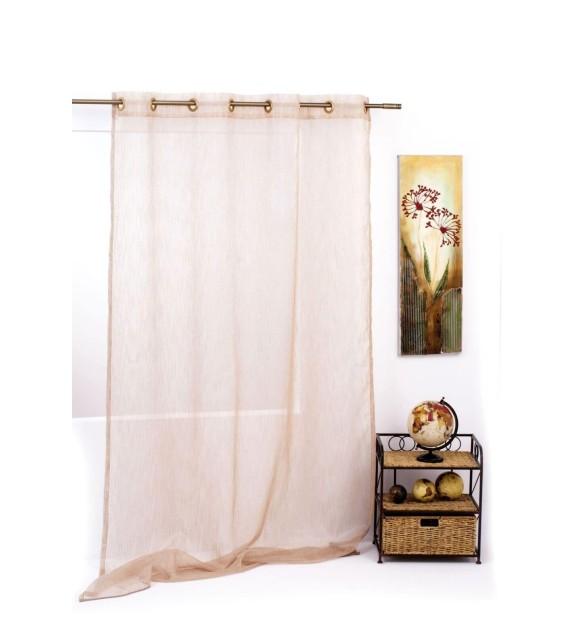 Perdea Pacific Mendola Home Textiles, 140x245cm, cu inele, maro