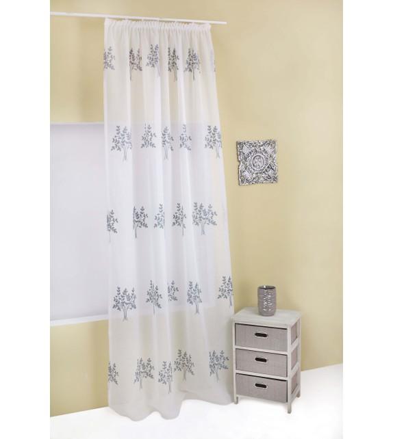 Perdea Serena Mendola Home Textiles, 140x245cm, cu rejansa, gri