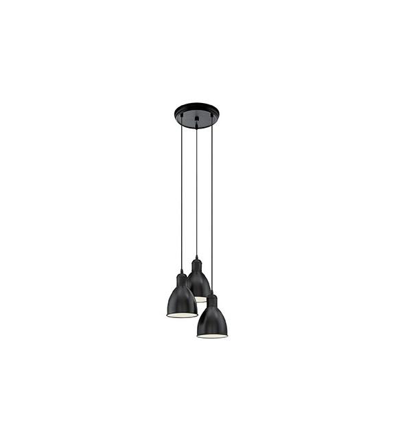 Pendul Priddy - 49465 Eglo, 3xE27, stil scandinav, negru