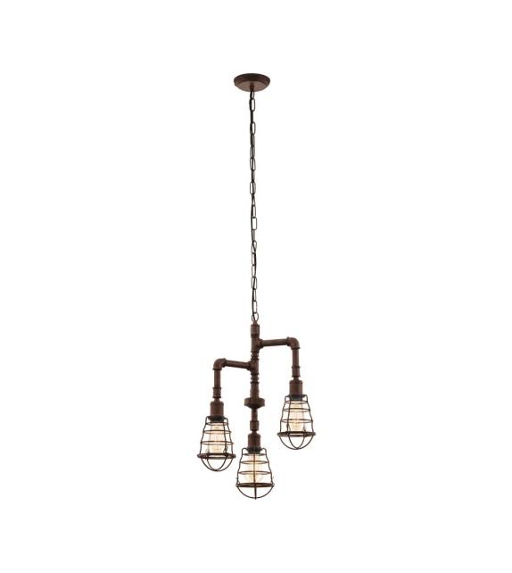 Pendul Port Seton - 49808 Eglo, stil vintage, maro antichizat