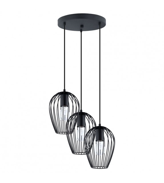Lustra Newtown - 49479 Eglo, stil scandinav, negru