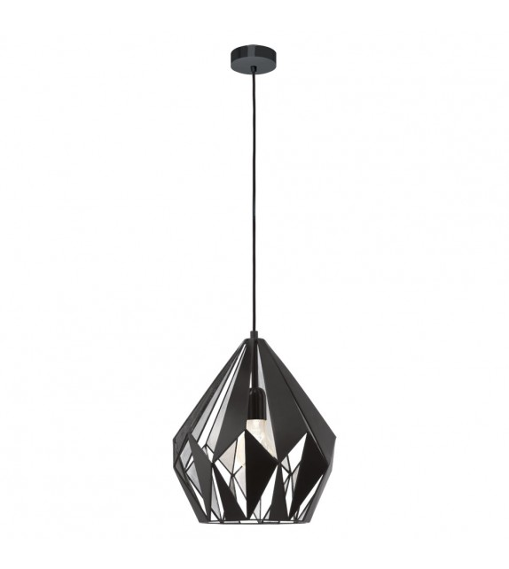 Pendul Carlton 1 - 49255 Eglo, stil scandinav, negru-argintiu