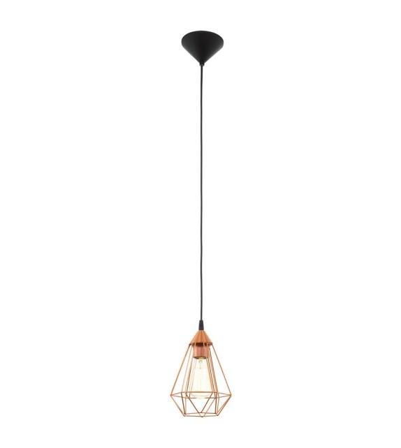 Pendul Tarbes - 94193 Eglo, stil scandinav, negru-cupru