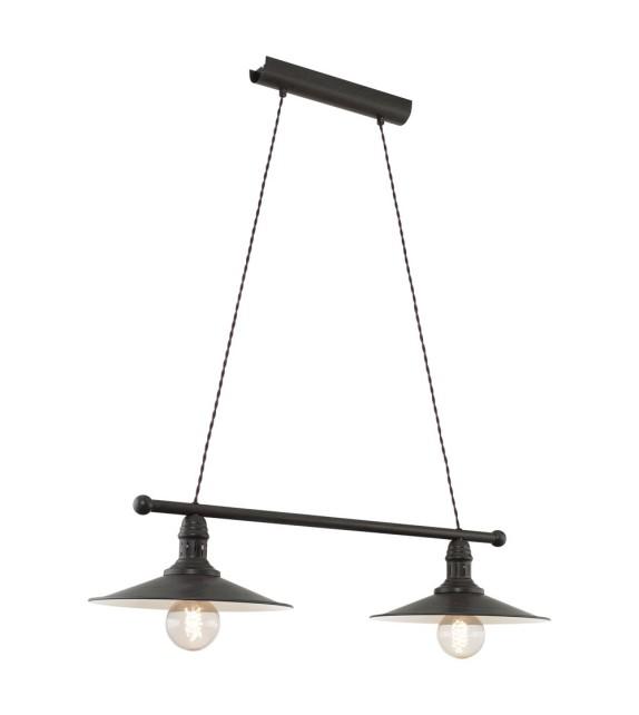 Lustra Stockbury - 49457 Eglo, 2xE27, stil scandinav, maro antichizat