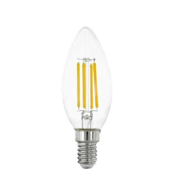 Bec E14 LED C35 CLEAR 11759 Eglo, 4W, 470m, 2700K