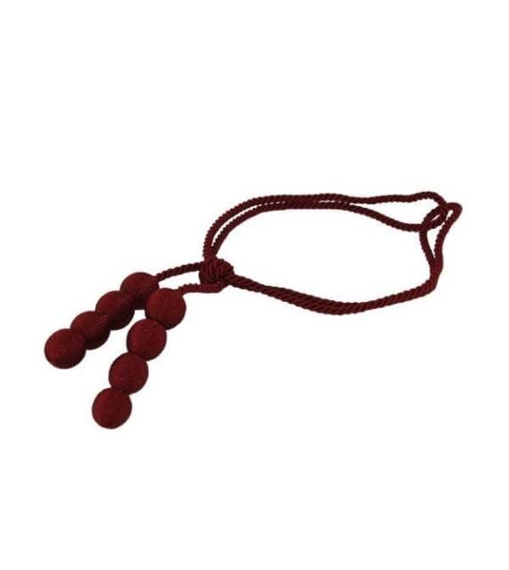 Ciucure draperie Mendola Home Textiles, 10/31,5cm, bordo