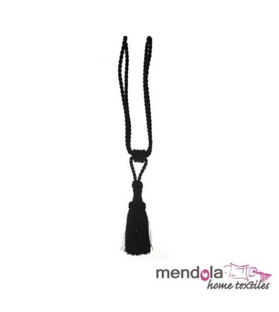 Ciucure draperie Mendola Home Textiles, 8,5/41cm, negru