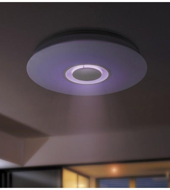 Plafoniera Murry - 4541 Rabalux, LED 24W, cu boxa prin bluetooth, dimmer si RGB, alb