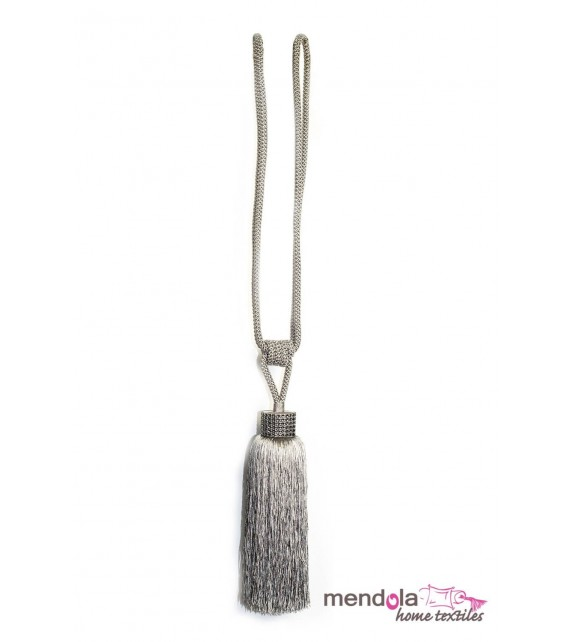 Ciucure draperie Mendola Home Textiles, 22/40cm, argintiu