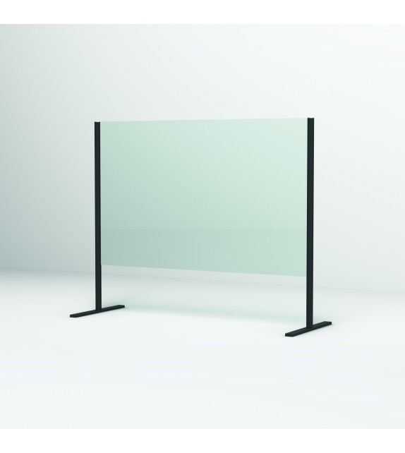 Paravan de protecție TEJGHEA SanSwiss, 60x80cm, profil negru mat