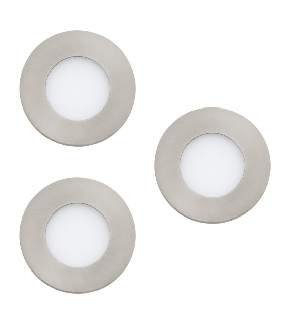 Set de 3 spoturi tip incastrat FUEVA C 32882 Eglo Connect, RGB+TW LED 3W, 360lm, nichel