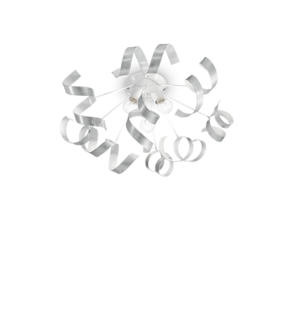 Plafoniera moderna VORTEX PL3 101576 IDEAL LUX, D56cm, E14, 3X40W, argintiu