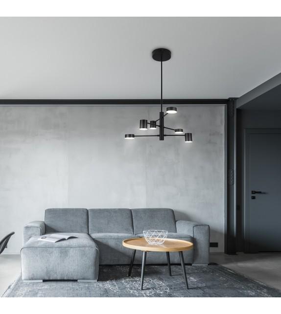 Lustra SOLOMON 6355 Rabalux, LED 30W, 2400lm, negru mat