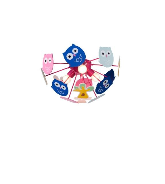 Lustra copii BIRDY 6389 Rabalux, E14, 3x40W, multicolor