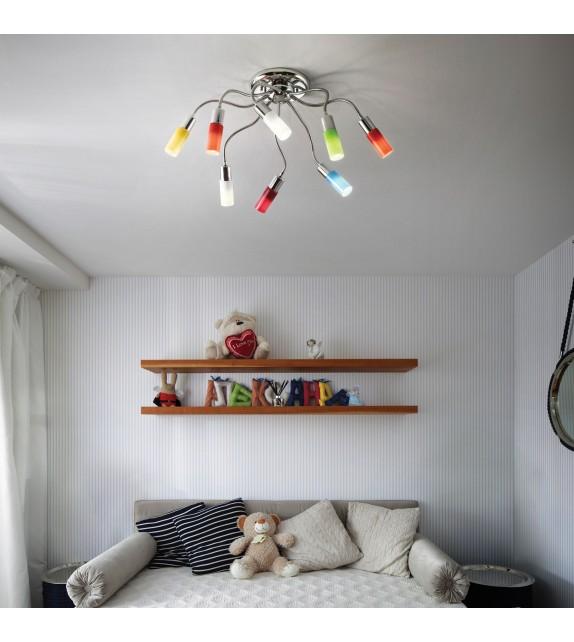 Lustra copii ECOFLEX PL8 044545 Ideal Lux, multicolora