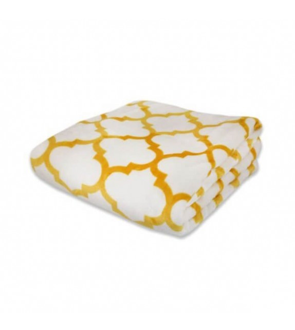 Patura decorativa flanela Mendola Home Textiles, 150x200cm, galben