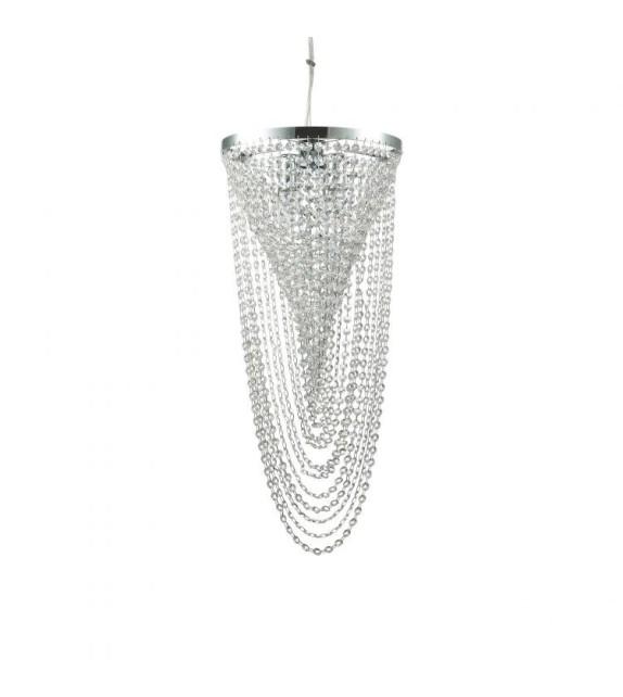 Lustra moderna cu cristale PEARL SP4 211541 Ideal Lux, crom