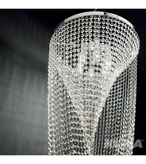 Lustra moderna cu cristale PEARL SP6 211558 Ideal Lux, crom