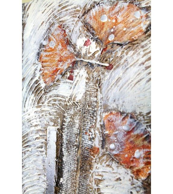 Tablou pictat manual Frozen Flowers, dimensiunea 30x30cm