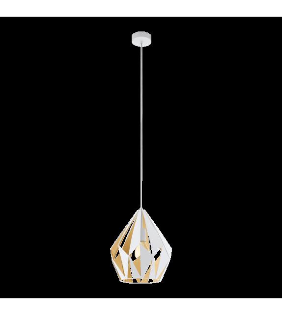 Pendul Carlton 1 - 49932 Eglo, stil scandinav, alb-rose