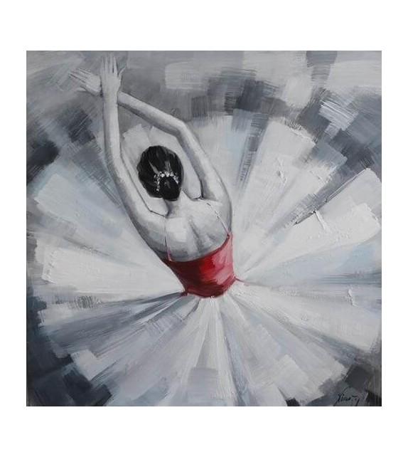 Tablou pictat manual Ballerina, dimensiunea 40x40cm