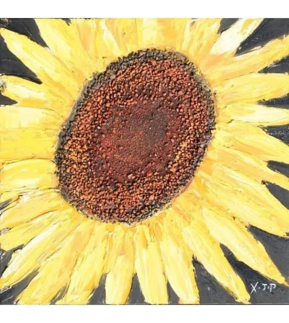 Tablou pictat manual Floarea Soarelui A, dimensiunea 40x40cm