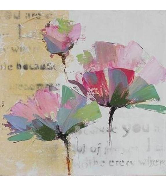 Tablou pictat manual Fundy, dimensiunea 60x60cm