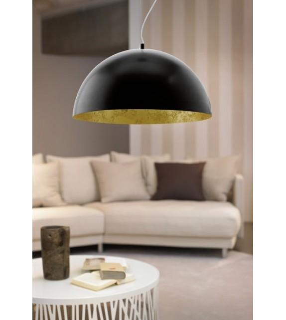 Pendul GAETANO 94935 Eglo, E27, 1x60W, negru/auriu