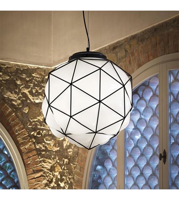 Pendul MAGLIE SP1 159263 Ideal Lux, alb-negru