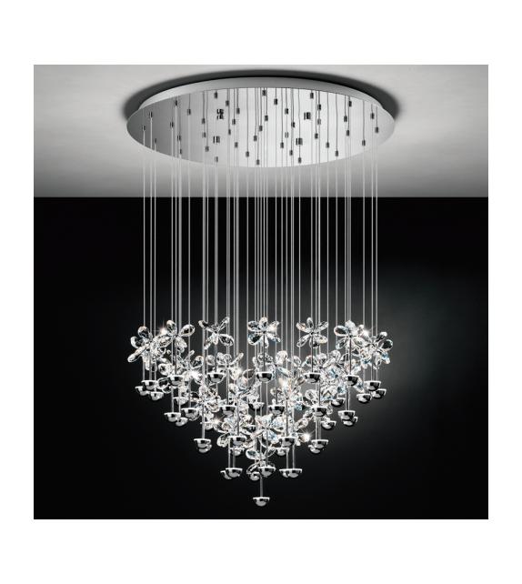 Lustra cristal PIANOPOLI 93661 EGLO, LED 43X2,5W 11610lm 3000K, crom