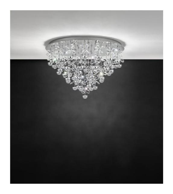 Plafoniera cristal PIANOPOLI 39246 EGLO, LED 43X1.8W 9245lm 3000K, crom