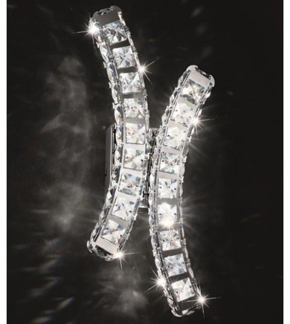 Aplica cristal TONERIA 39004 EGLO, LED 12W 1200lm 4000K, crom