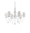 Candelabru BLANCHE SP6 035581 Ideal Lux, alb