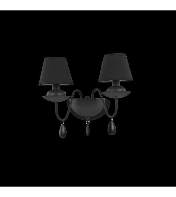 Aplica de perete BLANCHE AP2 111889 Ideal Lux, negru