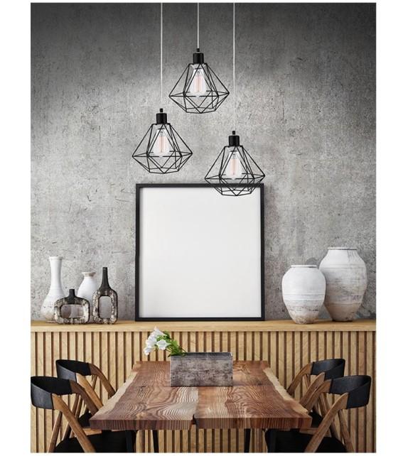 PIETRA, lustra design modern, D30, E27 3x40W, negru