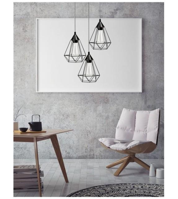 PAOLO, lustra design modern, D30, E27 3x40W, negru