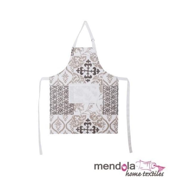 Sort Patch de bucatarie Mendola home textiles, 100% bumbac, alb-gri