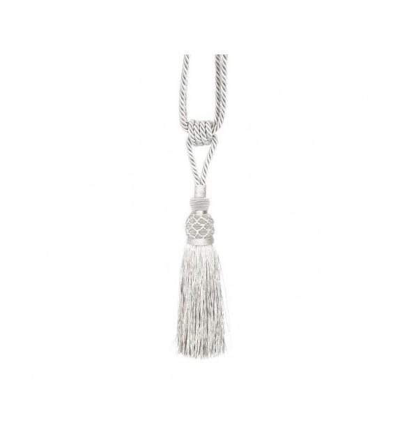 Ciucure argintiu pentru draperie, dimensiune 18/36 cm