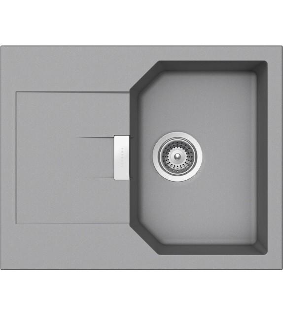 Chiuveta Bucatarie Schock Manhattan D-100XS Croma Cristalite 640 x 510 mm, granit, reversibila, montare pe blat, gri