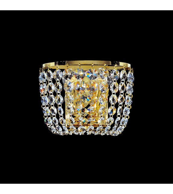 Aplica de perete SCHÖNBRUNN - KOLARZ Pure Gold, Placata cu Aur 24k, L18, H 22cm, 2 becuri