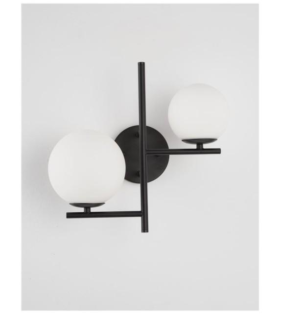 Aplica de perete IMPERO 9190421, E14 2x5 W, negru
