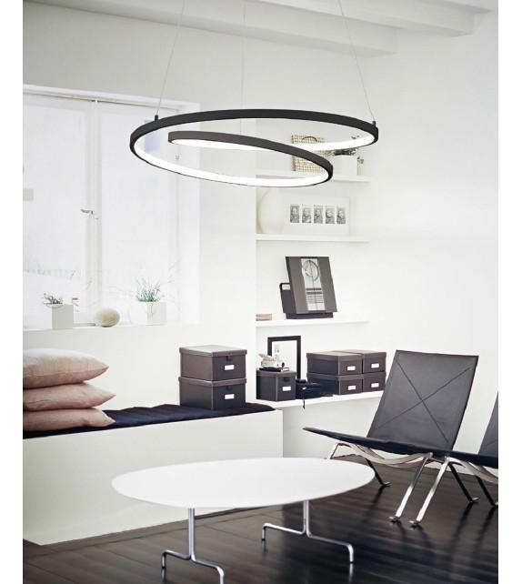 Lustra OZ SP D80 269450 Ideal Lux, LED 59W 6000lm 3000K, negru