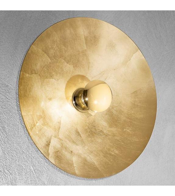 Aplica de perete Luna - Kolarz, Ø62, decor foita aur, placat aur