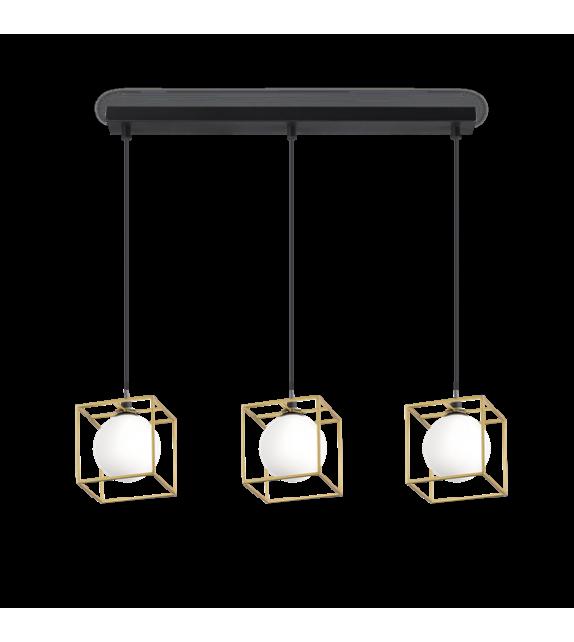 Lustra LINGOTTO SP3 SINGLE 251110 IDEAL LUX, negru-auriu