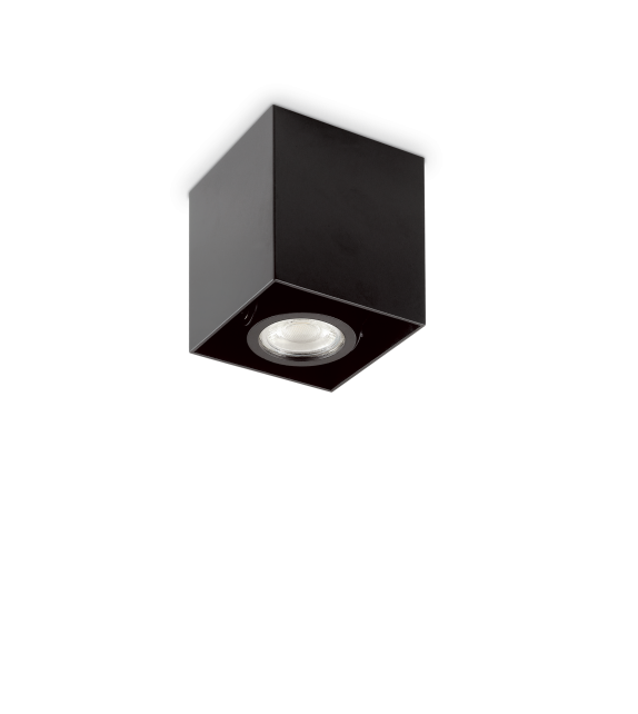 Spot patrat MOOD PL1 243948 Ideal Lux, L9, GU10, 1x28W, negru