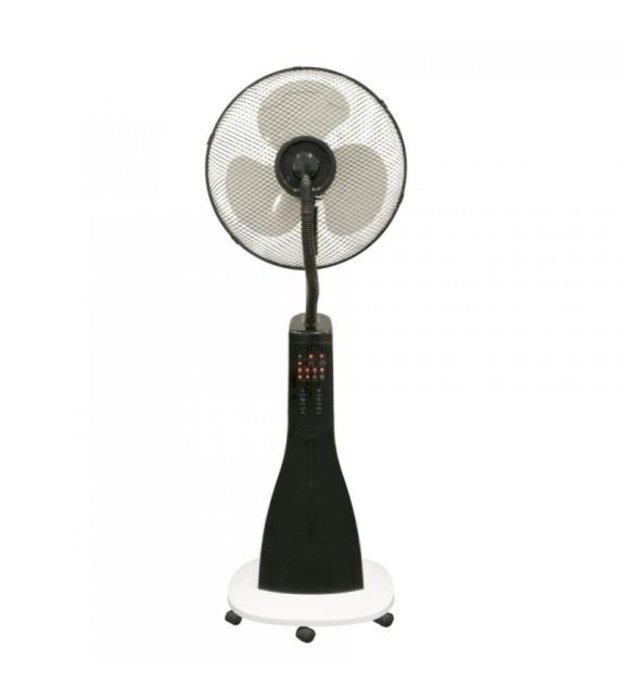 Ventilator de podea cu umidificator Home SMF 40/WH, 3 trepte de ventilatie, 90W, cu telecomanda, alb