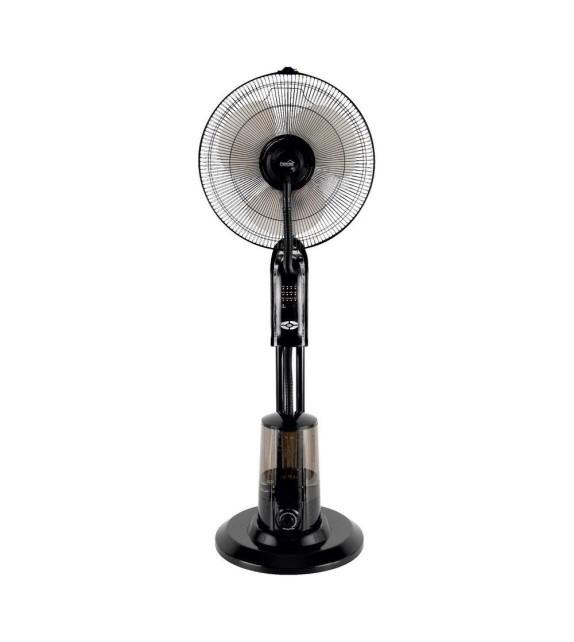 Ventilator de podea cu umidificator Home SFM 41/BK, 3 trepte de ventilatie, 75W, cu telecomanda, negru